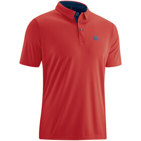 Gonso Willy Fiets Poloshirt Korte Mouwen Heren, red/insignia blue